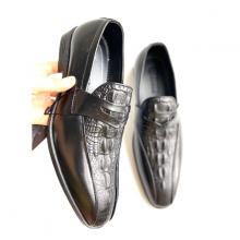 Giày tây nam giày lười vấn nổi - Geleli bảo hành 1 năm