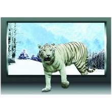 Tranh 3D trang trí bạch hổ uy mãnh