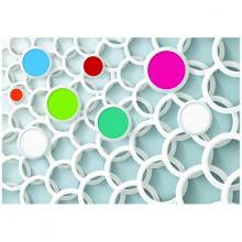 Tranh 3D trang trí những vòng tròn họa tiết