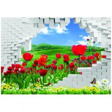 Tranh 3D trang trí khung trời hoa lá