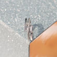 Nhẫn nữ Meteor J'admire bạc 925 cao cấp mạ Platinum đính đá Swarovski® trắng