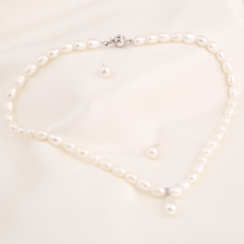 Set vòng cổ và hoa tai ngọc trai - Opal - S2PT6-10