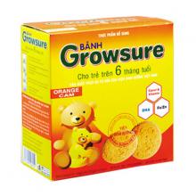 Bánh Growsure vị cam 168 gram dành cho bé ăn dặm từ 6 tháng Bibica