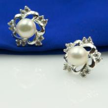 Hoa tai bạc Opal - E18
