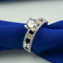 Nhẫn bạc Opal - V7