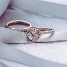 Nhẫn nữ bộ Blooming Flower J'admire bạc 925 cao cấp mạ Platinum đính đá Swarovski Zirconia trắng