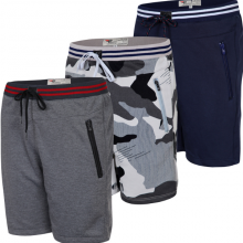 Bộ 3 quần thể thao basic vải nỉ thoáng mát hợp thời trang qttn04-xám, sọc xám, xanh đen