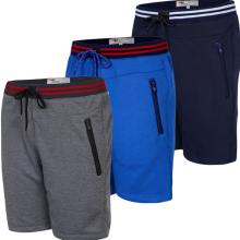 Bộ 3 quần thể thao basic vải nỉ thoáng mát hợp thời trang qttn04-xám, xanh công, xanh đen