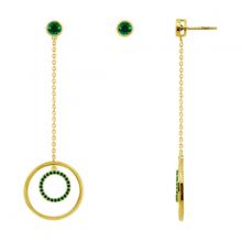 J'admire bạc cao cấp mạ Vàng đính đá Swarovski Zirconia - 4 màu lựa chọn