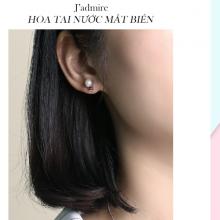 Hoa tai Nước mắt biển J'admire bạc cao cấp mạ Platinum đính ngọc trai và đá Swarovski Zirconia - 5 màu lựa chọn