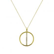 Mặt dây chuyền Quả cầu xoay J'admire bạc cao cấp mạ Vàng 18K đính đá Swarovski Zirconia - 5 màu lựa chọn