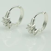 Hoa tai bạc đính đá - Opal - E15