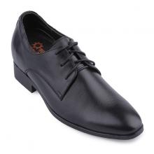 Giày nam tăng chiều cao Huy Hoàng màu đen  HV7189