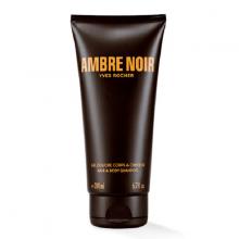 Tắm gội cho nam Yves Rocher Ambre Noir Hair  Body Shampoo 200ml