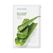 Mặt nạ dưỡng ẩm lô hội Nature Republic Real Nature Aloe Mask Sheet 23ml