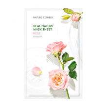 Mặt nạ cấp ẩm làm sáng da hoa hồng Nature Republic Real Nature Rose Mask Sheet 23ml