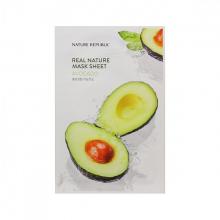 Mặt nạ trái bơ dưỡng mềm mịn Nature Republic Real Nature Avocado Mask Sheet 23ml