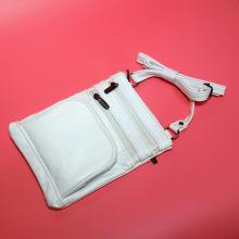 Túi đeo chéo da bò cao cấp Trip SB68 size M màu trắng
