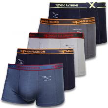Bộ 5 quần lót boxer nam thun lạnh thoáng mát pigofashion qlpg03