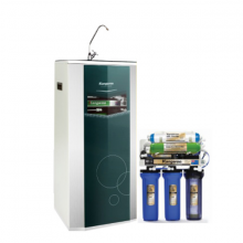 Thiết bị lọc nước RO 9 lõi Model KG109A vỏ tủ VTU màu xanh kèm carton
