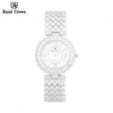 Đồng hồ nữ Chính Hãng Royal Crown 2607G-J (dây đá vỏ trắng)