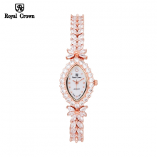 Đồng hồ nữ Chính Hãng Royal Crown 3588-J-RG ( dây đá vỏ vàng hồng )