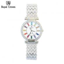 Đồng hồ nữ Chính Hãng Royal Crown 4604-J ( dây đá vỏ trắng )