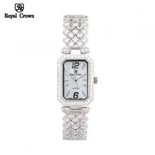 Đồng hồ nữ Chính Hãng Royal Crown 6316-J ( dây đá vỏ trắng )