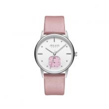 Đồng hồ nữ JA-1244A Julius hàn quốc dây da (hồng)