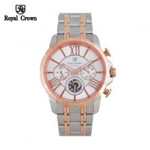 Đồng hồ nam Chính Hãng Royal Crown 8425-SS-DM-RG ( dây thép vỏ vàng hồng)