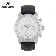 Đồng hồ nam Chính Hãng Royal Crown 8435-ST-B ( dây da đen)