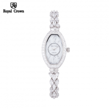 Đồng hồ nữ Chính Hãng Royal Crown 63813-J ( dây đá vỏ trắng )
