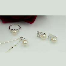 Set ngọc trai bạc Opal - S1