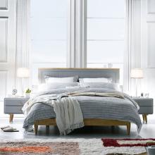 Giường đôi Camelia gỗ cao su 2m0 - cozino