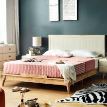 Giường đôi Pansy gỗ cao su 1m8 - cozino