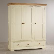Tủ quần áo Canary 3 cánh 2 ngăn kéo gỗ sồi 1m8- cozino