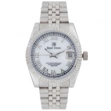 Đồng hồ nữ Chính Hãng Royal Crown 8701-SS (dây thép vỏ trắng)
