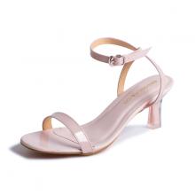 Giày nữ, giày sandals cao gót thời trang Erosska phối dây quai mảnh kiểu dáng thanh lịch cao 7cm EM043 (màu nude)