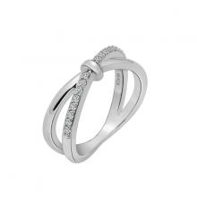 Nhẫn nữ Infinity một hàng đá J'admire bạc cao cấp mạ Platinum đính đá Swarovski Zirconia trắng size 6