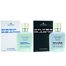 Combo nước hoa nam Jeanne Durfe Paris Silver Man EDT 50ml và Deep Sea EDT 50ml