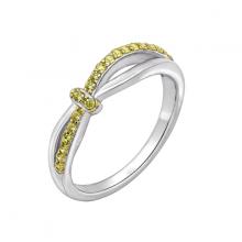 Nhẫn nữ Vòng xoắn J'admire bạc cao cấp mạ Platinum và Vàng 18K đính đá Cubic Zirconia vàng