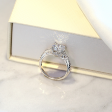 Nhẫn nữ Lotus Seed J'admire bạc 925 cao cấp mạ Platinum đính đá Swarovski Zirconia trắng