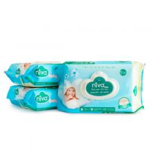 Khăn giấy ướt cho trẻ sơ sinh 80 tờ (150mmx200mmx45gms) có nắp an toàn cho bé