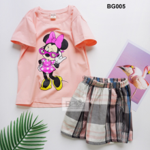 Bộ short mẹ và bé gái Mickey BMB01