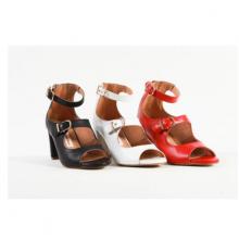 Giày sandal nữ da thật giả boot cao gót 7cm Mẫu 2020 GS05