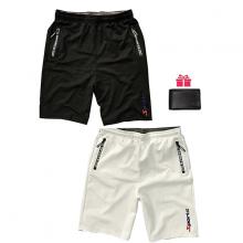 Combo 2 quần short thể thao nam phối dây kéo lưng thun bản rộng - SOT02 ( Tặng 1 ví )