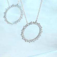 Dây chuyền Emty Sun Jadmire bạc 925 cao cấp mạ Platinum đính đá Cubic Zirconia trắng