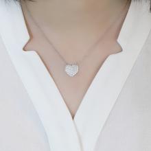 Dây chuyền  Just Love Jadmire bạc cao cấp mạ Platinum đính đá Swarovski Zirconia trắng