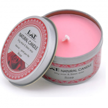Nến thơm sáp ong ECOLIFE - Aroma Candles Rose Tin