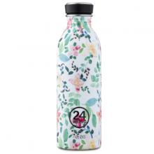 Bình nước 24 Bottles Urban 500ml, chất liệu thép không gỉ siêu nhẹ, họa tiết hoa nhí